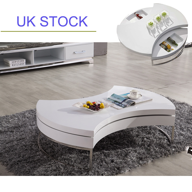 New Design For High Gloss Bed : Details about BN DESIGN STYLISH HIGH GLOSS WHITE COFFEE TABLE STORAGE ...